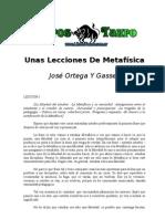 Ortega Y Gasset, Jose - Unas Lecciones de Metafisica