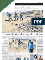 La ardua labor de los empadronadores del INEI- El Comercio Arequipa (01/06/2013)