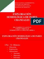 EXPLORACIÓN SEMIOLÓGICA DE PARES CRANEALES