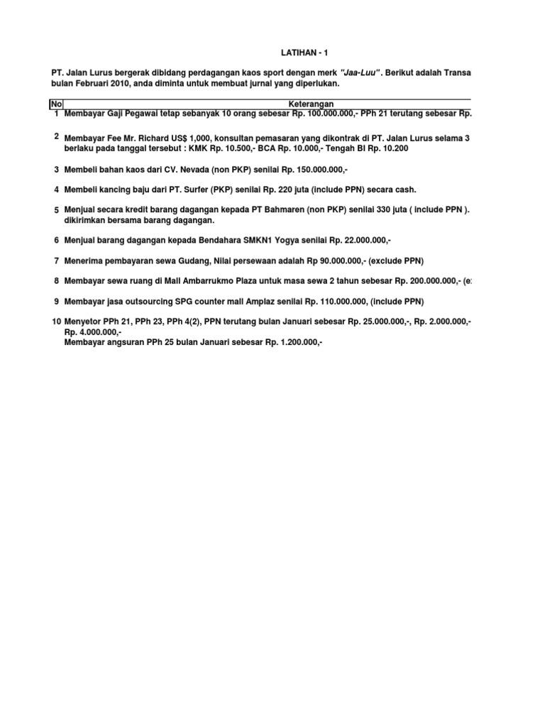 05 Latihan Akuntansi Pajak