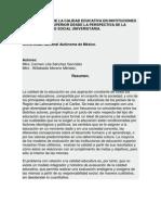LA EVALUACIÓN DE LA CALIDAD EDUCATIVA EN INSTITUCIONES DE EDUCACIÓN SUPERIOR DESDE LA PERSPECTIVA DE LA RESPONSABILIDAD SOCIAL UNIVERSITARIA