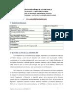 Syllabus Computacion III 2013 - 2014