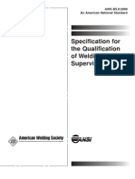 Aws b5.9 Specification for the Qualification of Welding Supervisors