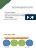 Plan Semestral. Sistema de Ciclos Concadenados.