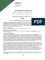 US Male Genital Mutilation Bill 2013