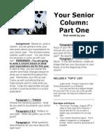 Senior Column Assignment 13-14
