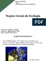 01 - Noções Gerais de Ecologia