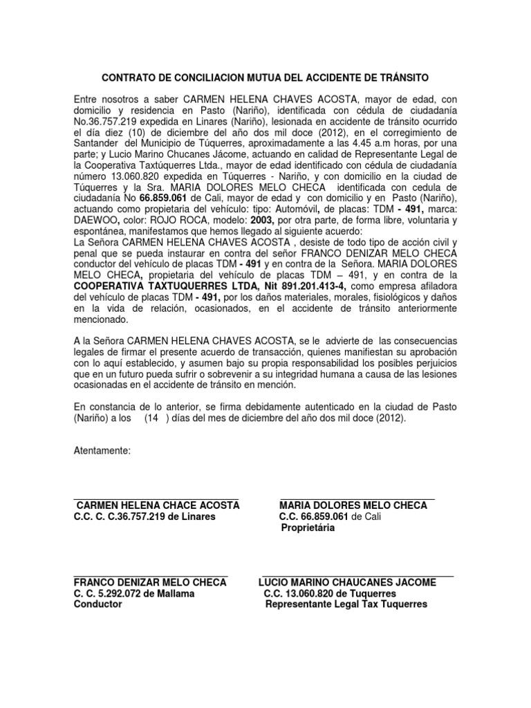 Acta desistimiento for Modelo acuerdo extrajudicial clausula suelo