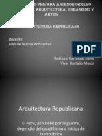 Arquitectura Republicana-origenes