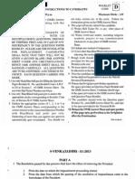 PGLCET 2013 - Question Paper - Andhra Pradesh - PG LAWCET