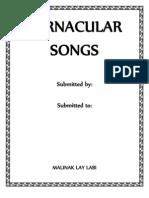 Vernacular Songs