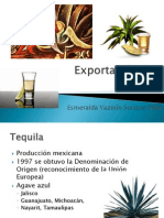 Exportación e importación de Tequila