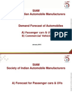 SIAM_January_2013_Forecasts for Cars and CVs