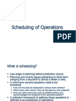 8. Scheduling of Operations