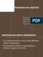 Impact of Packaging on Logistics