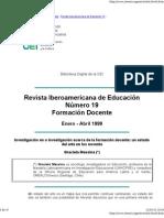 Investigación en o investigación acerca de la formación docente