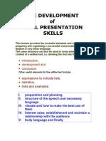 Oral Presentation Lecture