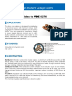 Three Core Cables to VDE 0276