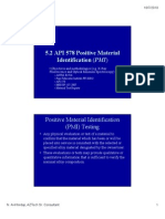 API 578 Positive Material Identification Pmi