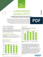 Sappi Europe Sustainability Report Update 2012