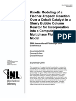 Kinetic Modeling of a Fischer-Tropsch Reaction over a cobalt catalyst