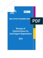 Directory of Potential Donors for Lsos 2010