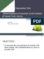 experiment to estimate the content of Ascorbic Acid