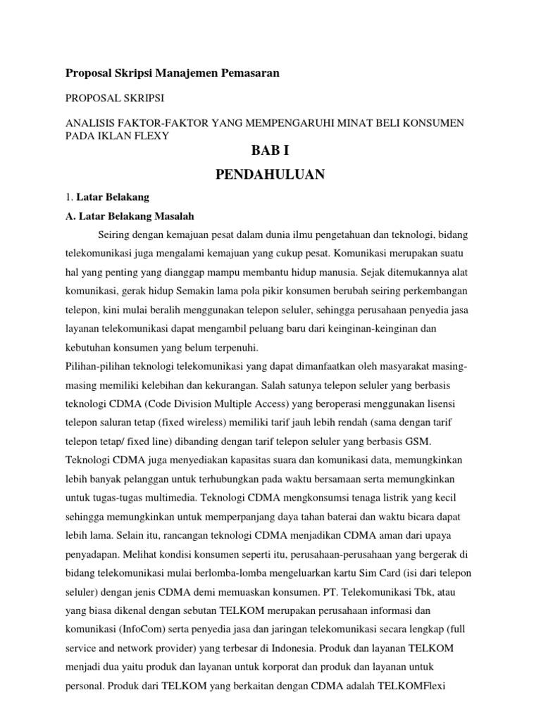 Contoh Jurnal Skripsi Manajemen Pemasaran Pejuang Skripsi