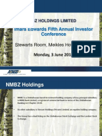 NMBZ Imara Investment Conference Presentation June 2013