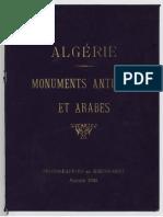 Algerie Monuments Antiques Et Arabes