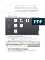 Step by Step Process to Draw an Object in Autodesk Revit Architecture 2012