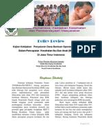Kajian Kebijakan Penyaluran Dana Bantuan Operasional Kesehatan dalam Pencapaian Kesehatan Ibu Dan Anak (MDG's 1,4,5) di Jawa Timur Indonesia