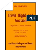 2013 Ashby Primary School Trivia Night and Auction Catalogue and Event Information