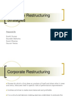 Corporate Restructuring Strategies ,need, reasons importance  imjpications,benefits  types...