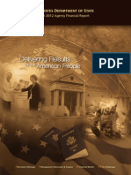 US Department of State Fiscal Year 2012 Agency Financial Report (2013) uploaded by Richard J. Campbell