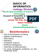 Basics of Bioinformattics