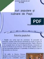 Obiceiuri  populare  şi  culinare  de  Paşti