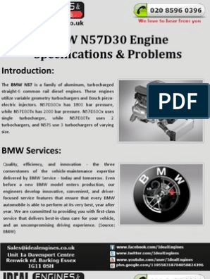BMW N57D30 Engine Specifications & Problems