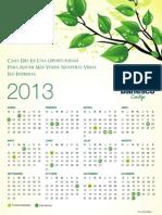 Calendario 2013 Banesco Venezuela