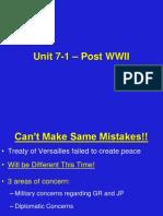 1.  Post War