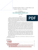 Pitkanen - Physics as Generalized Number Theory. Number Theoretic Universality (2010)