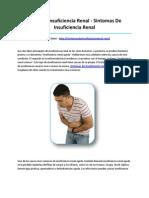Sintomas de Insuficiencia Renal