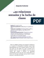 Alejandra Kollontai - Las Relaciones Sexuales y La Lucha de Clases