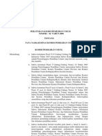 PKPU Nomor 04 Tahun 2009 Tata Naskah Dinas KPU