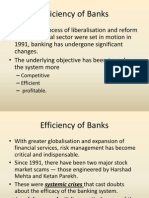 Efficiency of Banks