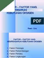FAKTOR – FAKTOR YANG MEMPENGARUHI KEBUTUHAN OKSIGEN 1