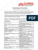 Advantages Disadvantages of Franchising