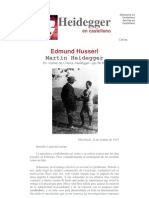Heidegger - Carta a Edmund Husserl