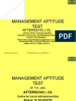 Management Aptitude Test 21 November