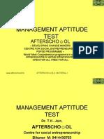 Management Aptitude Test 21 November